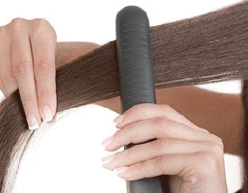 Использование утюжка для волос